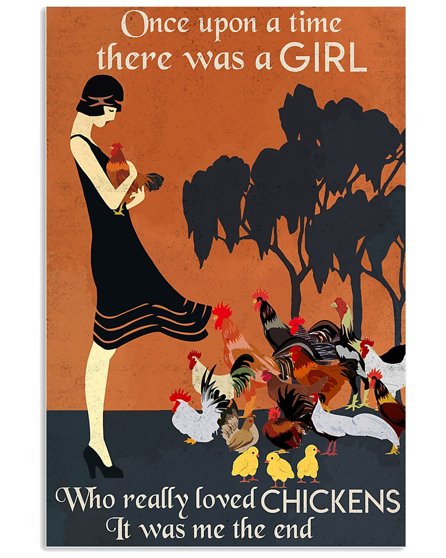 Chicken Once Upon A Time  16x24 Poster