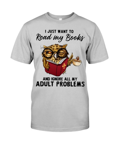 Owl I Just Want To Read My Books
