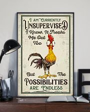 Chicken I Am Currently Unsupervised  16x24 Poster lifestyle-poster-2