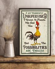 Chicken I Am Currently Unsupervised  16x24 Poster lifestyle-poster-3