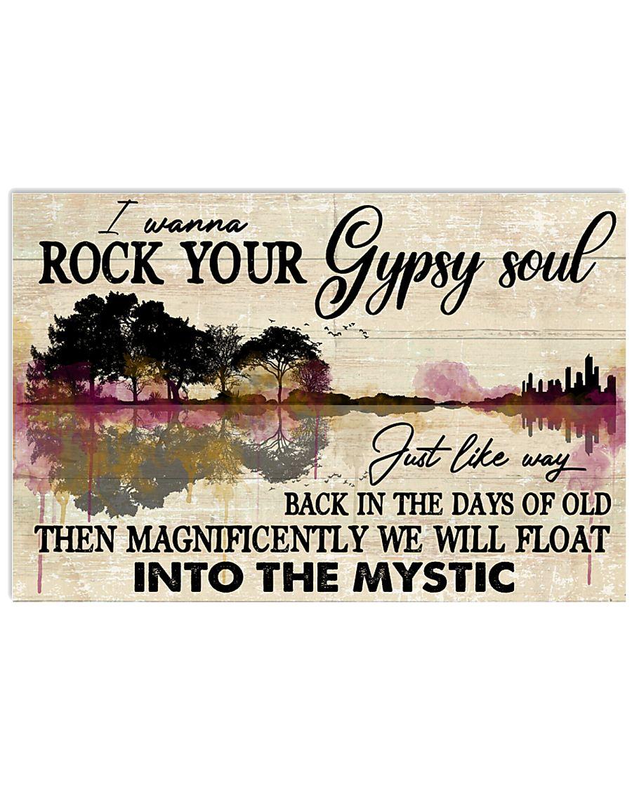 Hippie Guitar 24x16 Poster