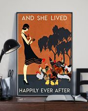 Chicken And She Lived Happily Ever After 16x24 Poster lifestyle-poster-2