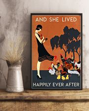 Chicken And She Lived Happily Ever After 16x24 Poster lifestyle-poster-3