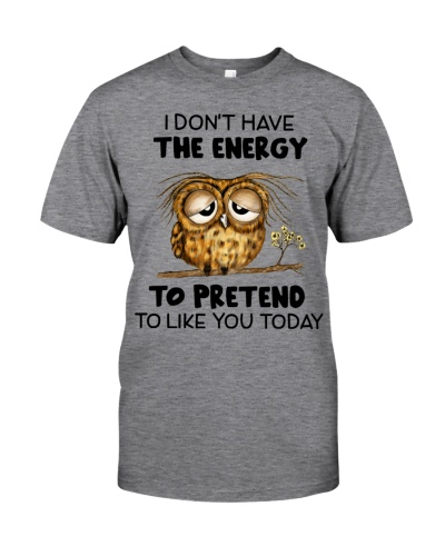 Owl I Don't Have The  Energy