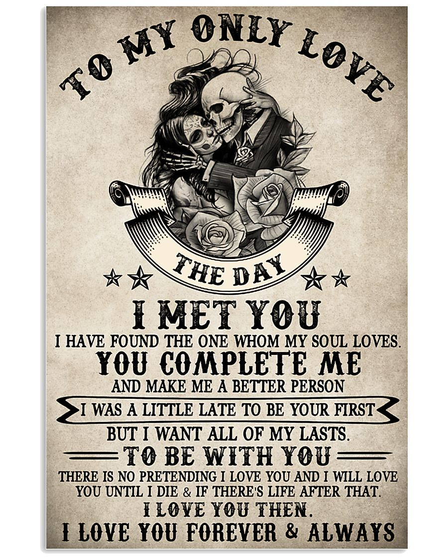 Skull To My Only Love  16x24 Poster