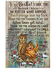 Owl To My Bestie I Love You Because I Know 11x17 Poster front