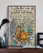 Owl To My Bestie I Love You Because I Know 11x17 Poster lifestyle-poster-2
