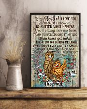 Owl To My Bestie I Love You Because I Know 11x17 Poster lifestyle-poster-3