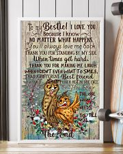 Owl To My Bestie I Love You Because I Know 11x17 Poster lifestyle-poster-4