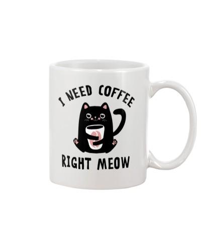 Cats I Need Coffee Right Meow
