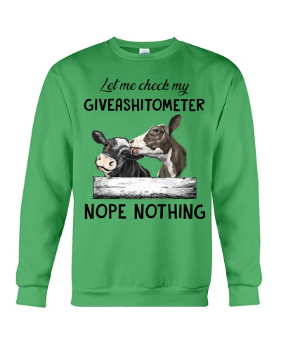 Cow Let Me Check My Giveashitometer