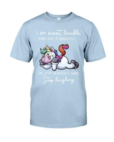 Unicorn I Am Sweet Loveable Kind Shy