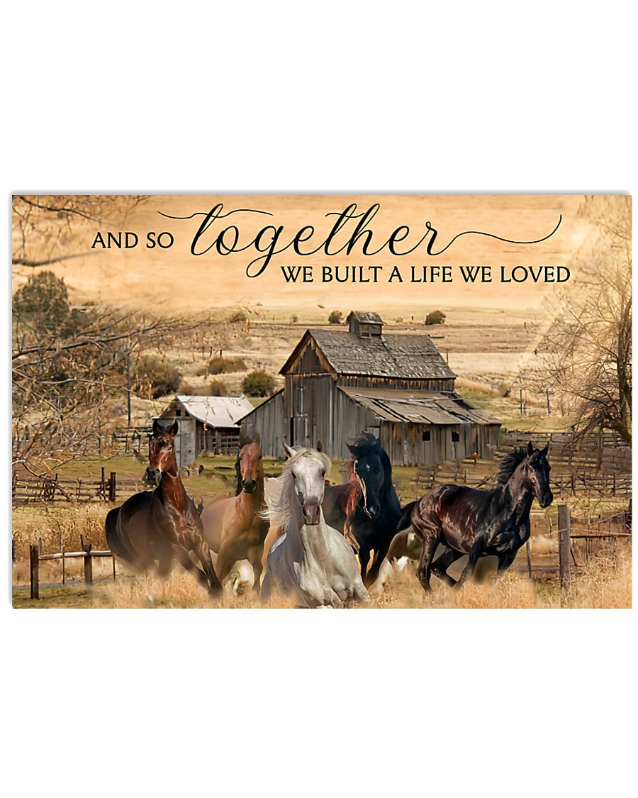 Horse And So Together  24x16 Poster