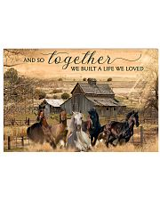Horse And So Together  24x16 Poster front