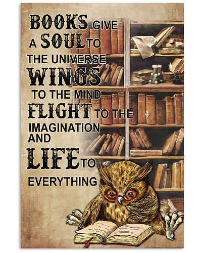 Owl Books Give A Soul To The Universe Wings