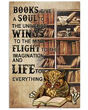Owl Books Give A Soul To The Universe Wings  11x17 Poster front