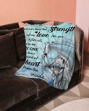 "Baby Unicorn No one else will ever Nursery Blanket Small Fleece Blanket - 30"" x 40"" aos-coral-fleece-blanket-30x40-lifestyle-front-05"