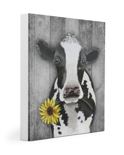 Cow Sunflower Face