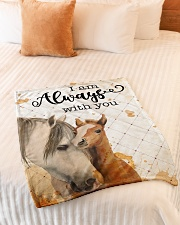 """Baby Horse I Am Always With You Small Fleece Blanket - 30"""" x 40"""" aos-coral-fleece-blanket-30x40-lifestyle-front-01"""