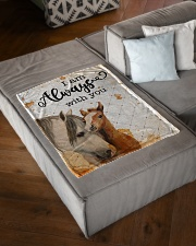 """Baby Horse I Am Always With You Small Fleece Blanket - 30"""" x 40"""" aos-coral-fleece-blanket-30x40-lifestyle-front-03"""