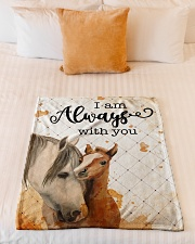 """Baby Horse I Am Always With You Small Fleece Blanket - 30"""" x 40"""" aos-coral-fleece-blanket-30x40-lifestyle-front-04"""