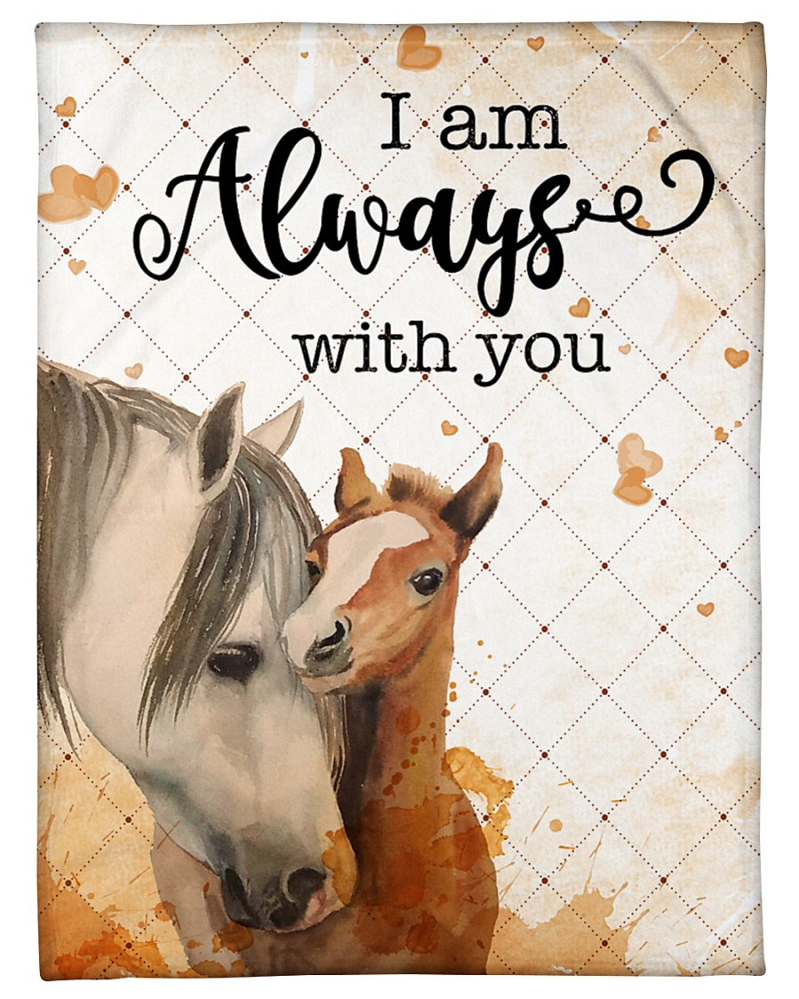 "Baby Horse I Am Always With You Small Fleece Blanket - 30"" x 40"""