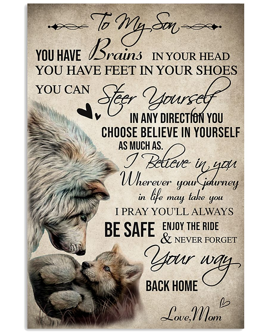 Wolf To My Son You Have Brains 16x24 Poster