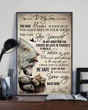Wolf To My Son You Have Brains 16x24 Poster lifestyle-poster-2