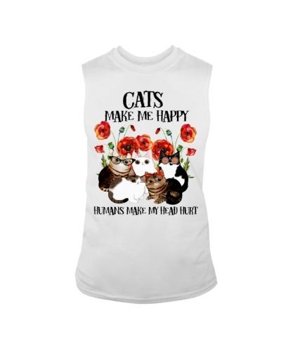 Cats Make Me Happy Human Make My