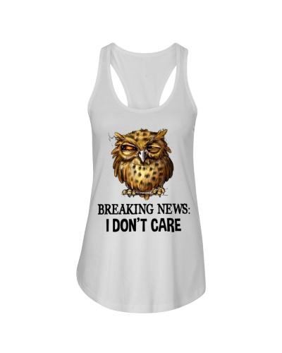 Owl Breaking News I Don't Care