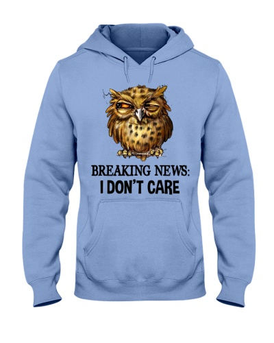 Owl Breaking News I Don't Care