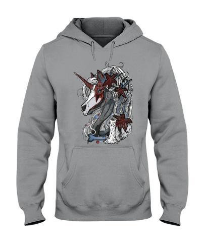 Unicorn Skull Red