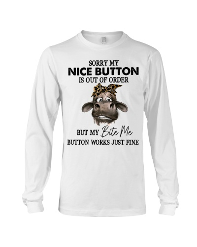 Cow Sorry My Nice Button