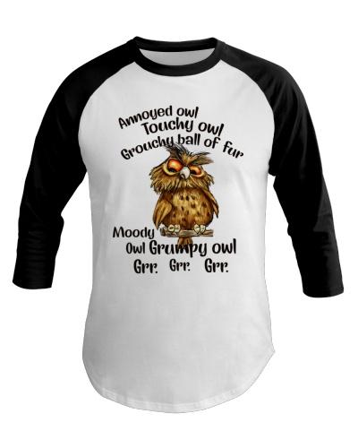 Owl Annoyed Owl  Touchy Owl Grouchy Ball Of Fur