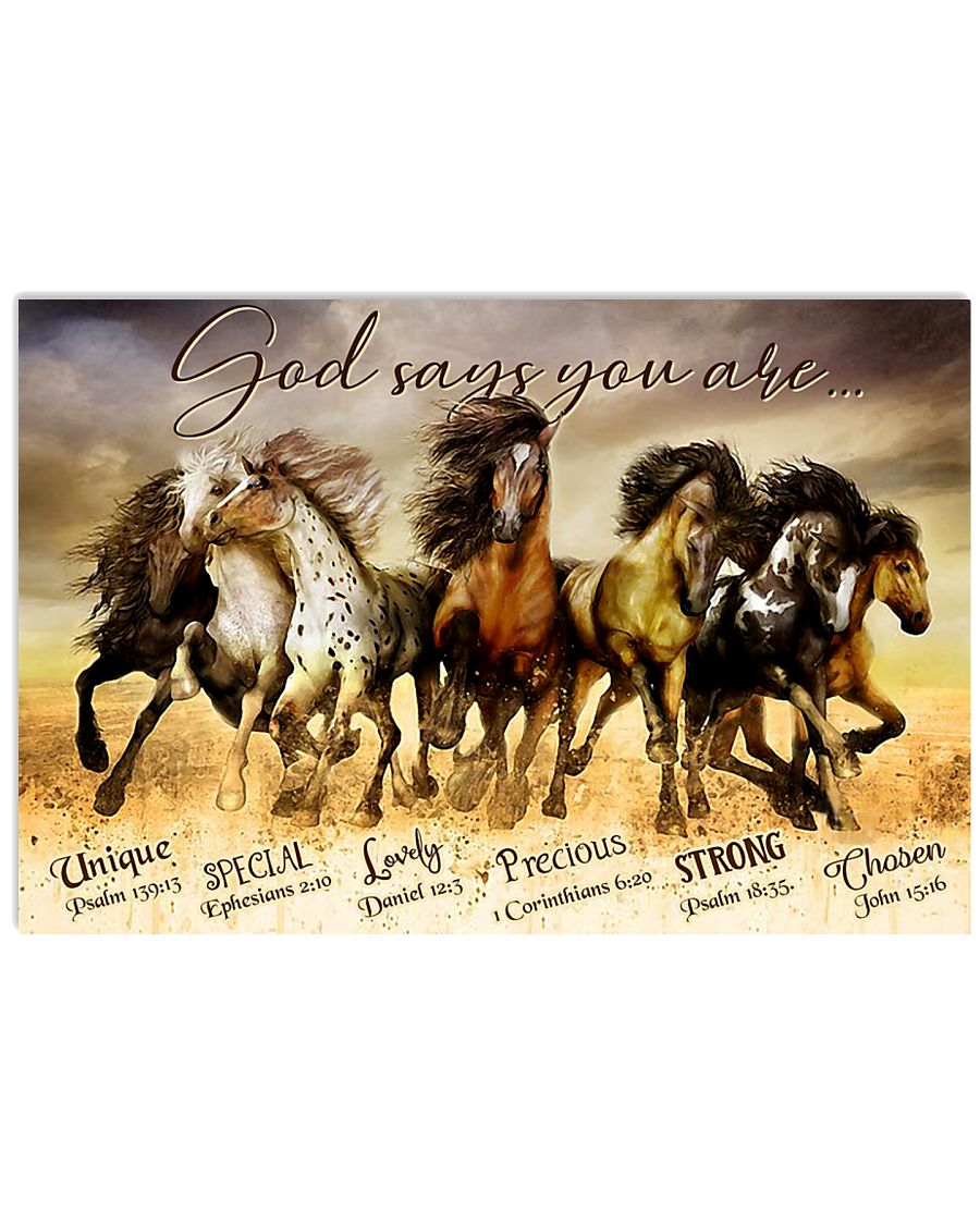 Horse God Says You Are  24x16 Poster