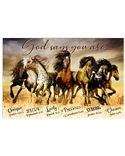 Horse God Says You Are  24x16 Poster front