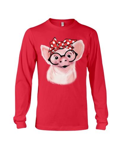 Pig Bandana Red