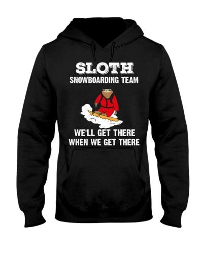 Snowboarding Sloth snowboarding team