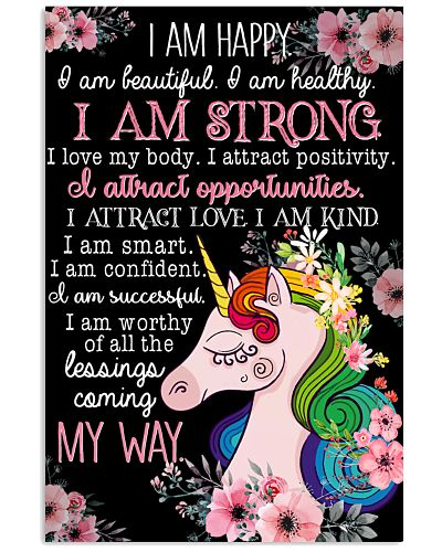 Unicorn I Am Happy I Am Beautiful I Am Healthy