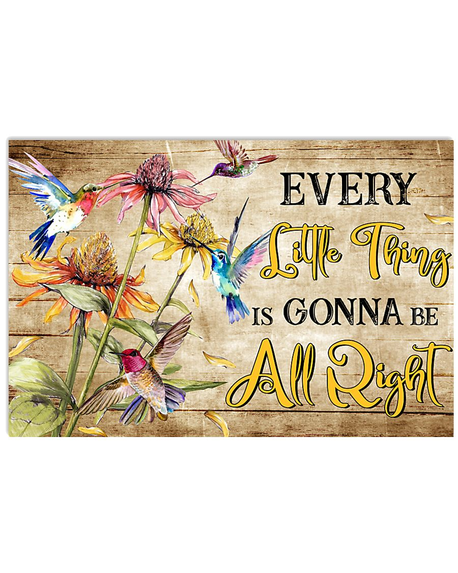 Hippie Bird Every Little Thing Is  17x11 Poster