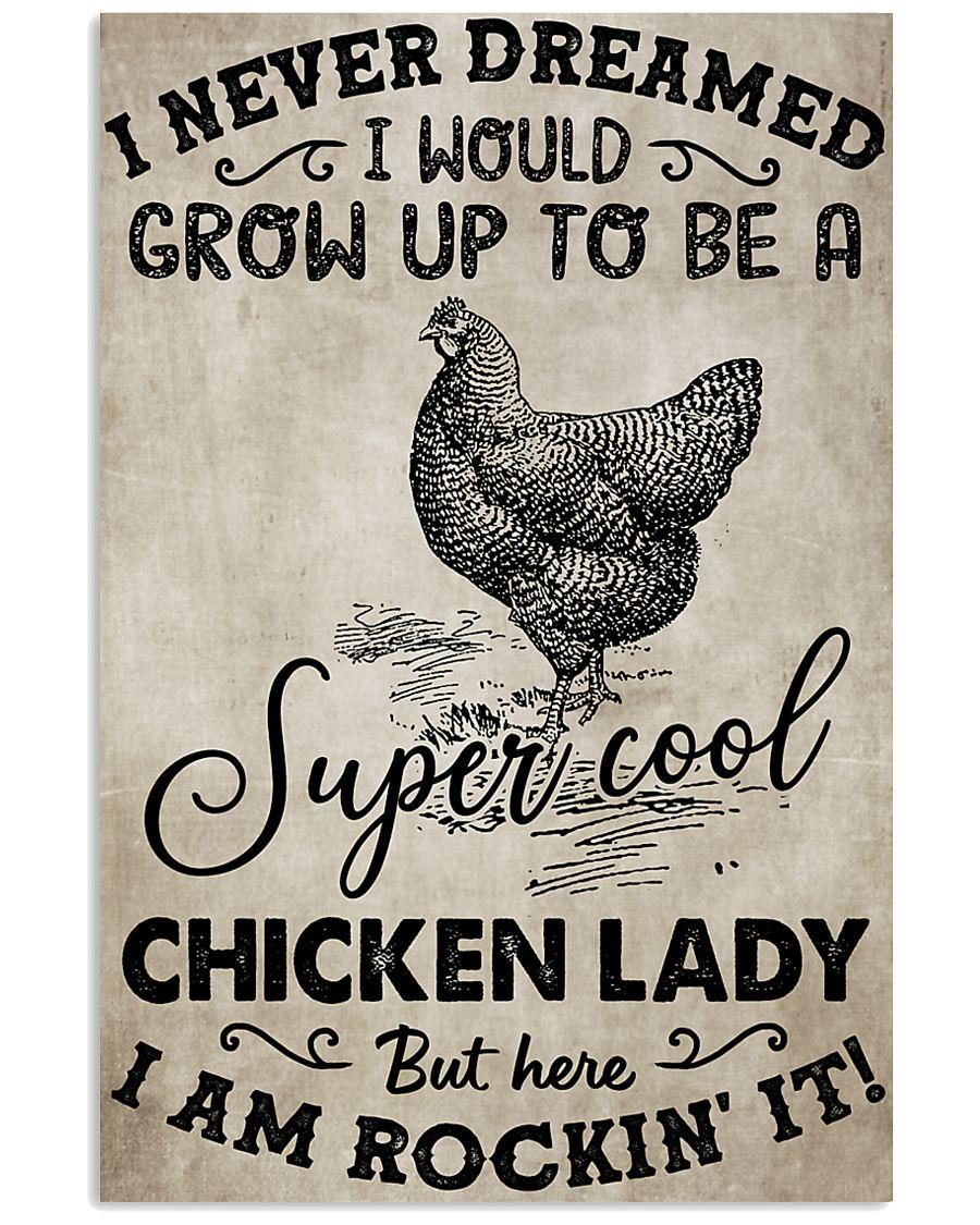 Chicken I Never Dream 16x24 Poster