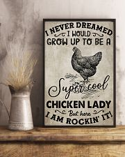 Chicken I Never Dream 16x24 Poster lifestyle-poster-3