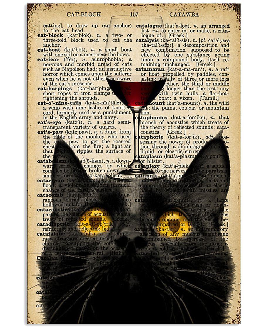 Cat Wine  16x24 Poster