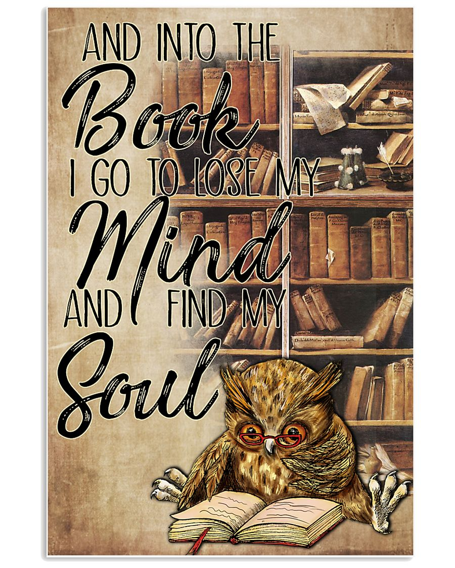 Owl And Into The Book I Go To Lose My Mind 11x17 Poster
