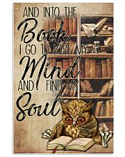 Owl And Into The Book I Go To Lose My Mind 11x17 Poster front