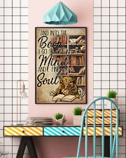 Owl And Into The Book I Go To Lose My Mind 11x17 Poster lifestyle-poster-6
