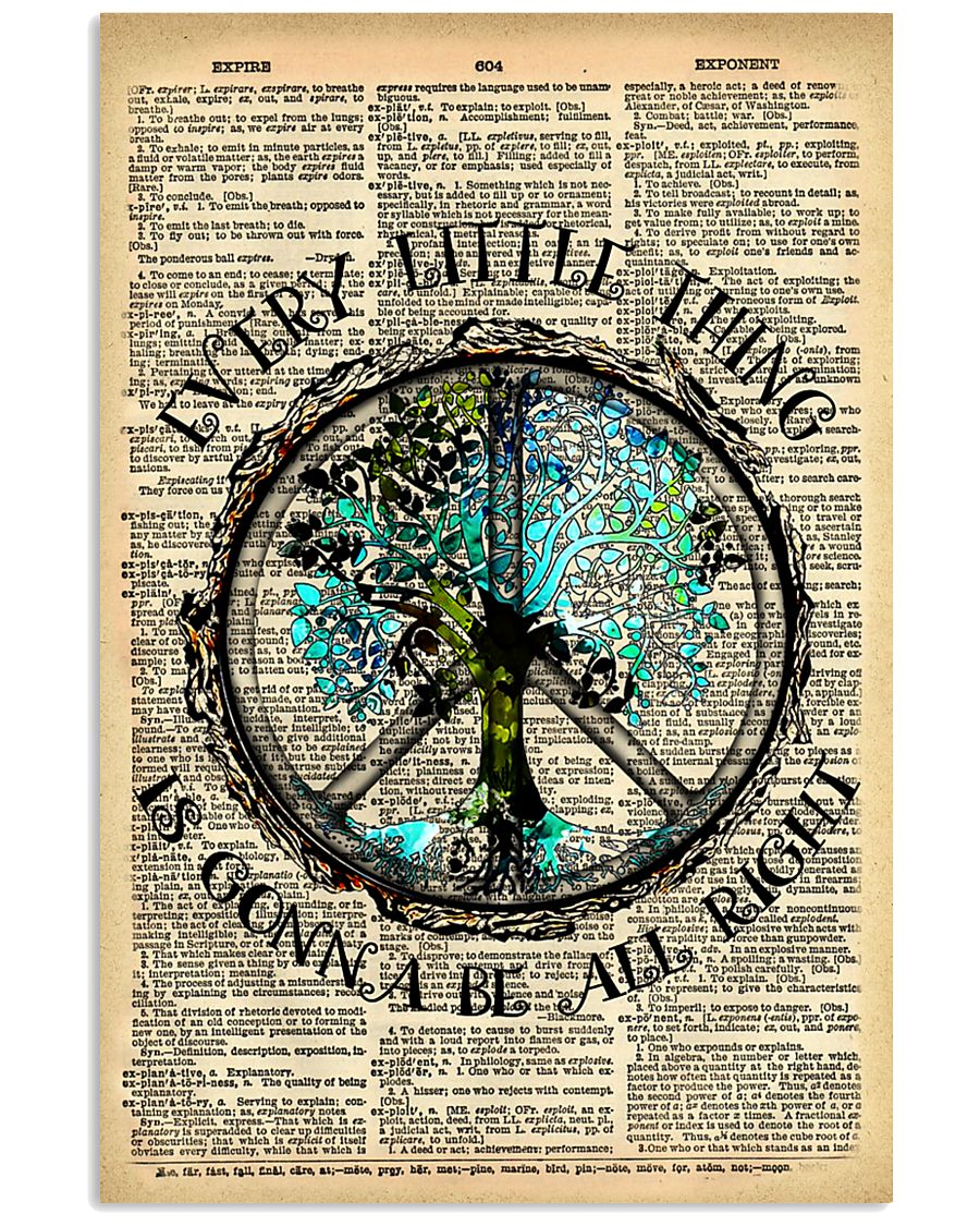 Hippie Every Little Thing Is Gonna 16x24 Poster