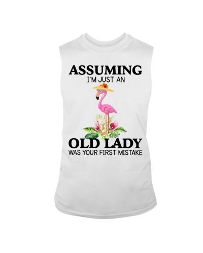 Flamingo old lady