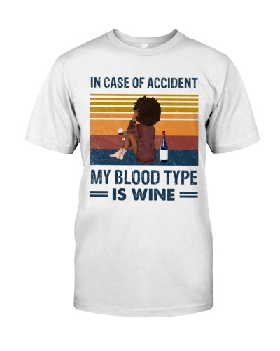 Afro My blood type is wine