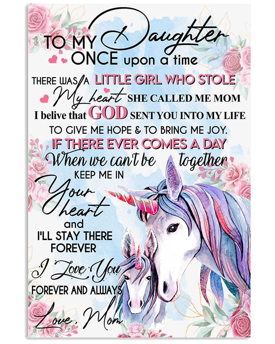 Unicorn To My Daughter Once Upon A Time 16x24 Poster